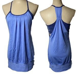 Lululemon blue tank top with built in bra